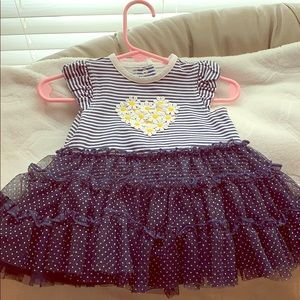 💙4 for $12💙daisy striped tutu dress 6 months